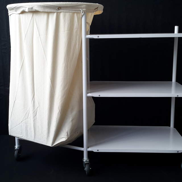 Soiled Linen Trolley With 3 Shelves