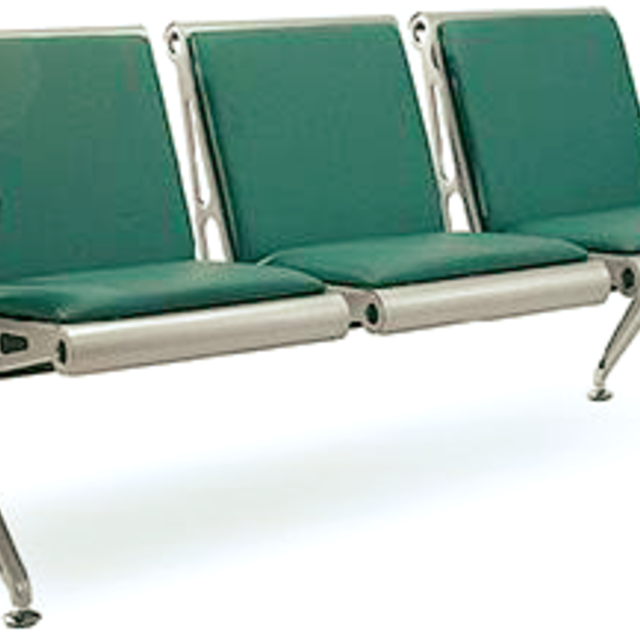 Airport Style Waiting Chair - Upholstered